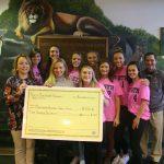 Girls Soccer Presents Check to Hunterdon Cancer Center