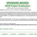 2018 Project Graduation Sponsors Needed