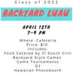 Freshman Backyard Luau Event