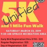 Unified 5K Run/1 Mile Fun Walk