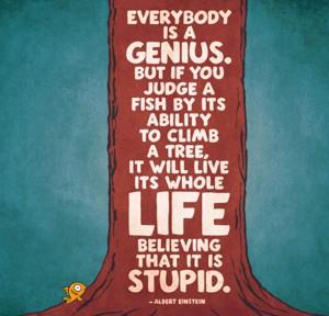 Einstein_Everybody-is-a-genius